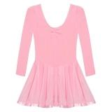 Sale Supercart Arshiner Children G*Rl Kid Long Sleeve Ballroom Ballet Dance Skate Jumpsuit Dress Pink Intl Not Specified Cheap