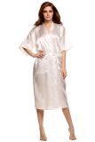 Supercart S*xy Woman Silk Strappy Sleepwear Long Bath Robes Night Gown Pajamas White Export Price Comparison