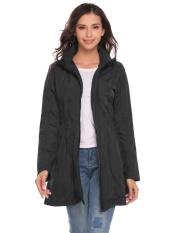 Supercart Women Casual Lightweight Travel Waterproof Raincoat Hooded Windproof Hiking Coat Jacket Black Intl Sale