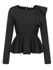Sale Supercart Women S Long Sleeve One Shoulder Asymmetric Ruffles Peplum Blouse Tops Red Intl Not Specified Cheap