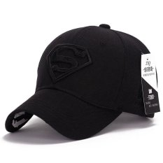 Where To Shop For Superman Baseball Cap Hats For Men Women Adjustable S Logo Letter Casual Outdoor Snapback Hat Black Intl