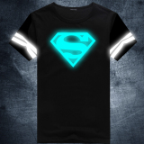 Sale Superman Cotton New Style Reflective Plus Sized T Shirt Blueray 01 Oem