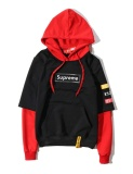 Purchase Supreme Men Women Autumn Hoodies Sweatshirts New Fashion Mosaic Hooded Sweater Loose Jacket Coat Clothing Black Red Intl
