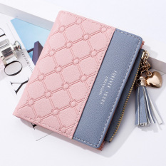 Swdvogan Women Korean Style Short Wallet With Tassel By Taobao Collection.