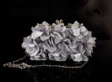 Buy Sweet Handmade Three Dimensional Petals Flower Bag Handbag Banquet Bag Hand Drill Bag Wild Diagonal Package The Bride Wedding Package Gray Cheap On China