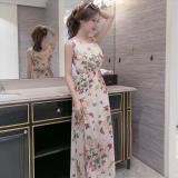 Sweet Printed Chiffon Women Beach Dress Slim Fit High Waisted Dress 4 No For Sale