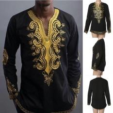 Best Buy T Shirt African Tribal Men Succinct Hippie Top Blouse Black Tee Intl
