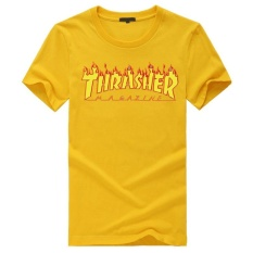 Price Comparisons For T Shirt Men Women Skateboards Tee Short Sleeve Skate T Shirts Tops Hip Hop T Shirt Homme Man Trasher Intl