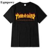 Retail T Shirt Men Women Skateboards Tee Short Sleeve Skate T Shirts Tops Hip Hop T Shirt Homme Man Trasher Intl