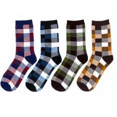 T92 Bundle Checkered Gentlemen Men Socks *d*lt Coupon Code