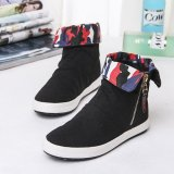 Price Easy Emperor Korean Style Solid Pedal Side Zip Lr Shoes Girls Canvas Shoes Oem Original