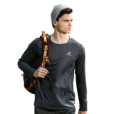 Tectop Outdoor Men And Long Sleeved Thin T Shirt Quick Drying Clothes 7703 Men Dark Gray For Sale