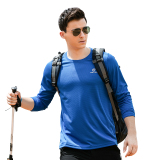 Tectop Outdoor Men And Long Sleeved Thin T Shirt Quick Drying Clothes 7703 Men Sapphire Blue Compare Prices