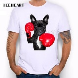 Teeheart Summer Naughty Black Dog T Shirt Men Lovely French Bulldog Pug Good Quality Comfortable Brand Pb500 006 White Intl Deal