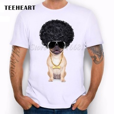 Cheapest Teeheart Summer Naughty Black Dog T Shirt Men Lovely French Bulldog Pug Good Quality Comfortable Brand Pb500 010 White Intl