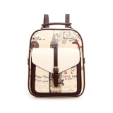 Get Cheap Teenagers Sch**l Casual Backpack Fashion Children Backpack For G*rl Beige