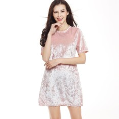 Top Rated Tf New Fashion Women Clothing Dress Hot Selling In Europe And America All Match The Swan Diamond Silk Velvet Easy Short Sleeve A Line Dresses Intl