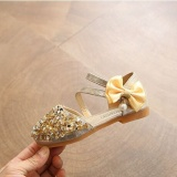 Top 10 Tf New Girls Sandals Crystal Shoes Children S High Heels Han Edition Sequins Princess Shoes Gold Intl