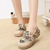 Buy Thai Style Low To Help Shallow Mouth Shoes Linen Weaving Shoes Intl Oem Online