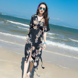 Best Buy Bohemian Chiffon Seaside Female Beach Skirt Beach Dress