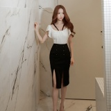 Buy The Korean Summer Fashion Women S S*xy Package Buttocks Open Fork Dress Intl Cheap China