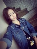 Buy Attachment Korean Style Female Spring And Autumn Loose Short Paragraph Jacket Denim Jacket Cheap China