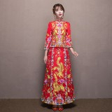 Buy The New Bride Wear Chinese Costume Show He S Wedding Wedding Dress Cheongsam Show Wo Intl On China