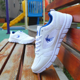 Best Reviews Of Korean Style Breathable Network White Student Men S Shoes New Style Couple Shoes White And Blue White And Blue