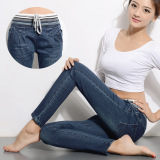 Wholesale The New Han Edition In Stretch Elastic Waist Harlan Jeans Women The Thin Spare Long Pants Intl