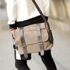 Men S Korean Style Casual Canvas Messenger Bag Casual Color Casual Color Shopping