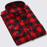 Buy The New Ultra Autumn L Men 100 Cotton Shirt Cotton Plaid Shirts Bl876 Cotton Red And Black Grid Bl876 Cotton Red And Black Grid Oem Online