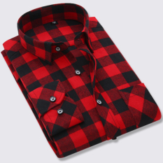 Where To Shop For The New Ultra Autumn L Men 100 Cotton Shirt Cotton Plaid Shirts Bl876 Cotton Red And Black Grid Bl876 Cotton Red And Black Grid