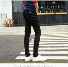 Price The New Trend Of The Dark Blue Foot Trousers Cultivate One S Morality Han Edition Men S Trousers Are Black Teenagers Intl Oem China