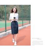 The New Women S Thin Split A Word Skirt Bag Hip Skirt In Denim Jeans All Match Long Skirt Tide Intl Price