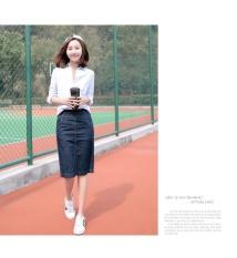 The New Women S Thin Split A Word Skirt Bag Hip Skirt In Denim Jeans All Match Long Skirt Tide Intl Price Comparison