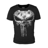 Best Deal The Punisher Skull Ghost Black Men T Shirt Shirt Tops Sports Casual Cotton Tops Cosplay Black Intl