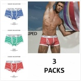 Where To Buy Theias 3 Packs Men Boxer Trunk Cotton Stripe U Convex Design Underwear Underpant Blue Green Red Intl