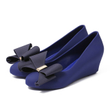 Buying Thick Bottomed Sandals Gel Shoes Sapphire Blue Color