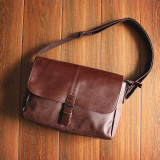 Price Man Bag Three Box Business Cross Section Original Hook Deep Brown On China