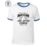Review Thw 2017 Hot Selling Funny Funny Awesome Jiu Jitsu Teacher Funny Cotton T Shirt For Men Intl On China