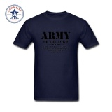 Top Rated Thw Mens Fashion Short Sleeve T Shirts 2017 Funny Graphic Funny Army Of The Lord 2 Timothy 23 Bible Lines Cotton T Shirt For Men Intl