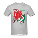 Best Deal Thw Motorcycle Vespa T Shirt Fashion Short Sleeve Fashion Custom Family Shirts Intl