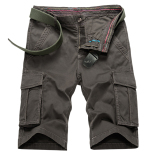 Tide Men S Multi With Pockets Cotton Straight Boy S Shorts Casual Shorts Deep Army Color In Stock