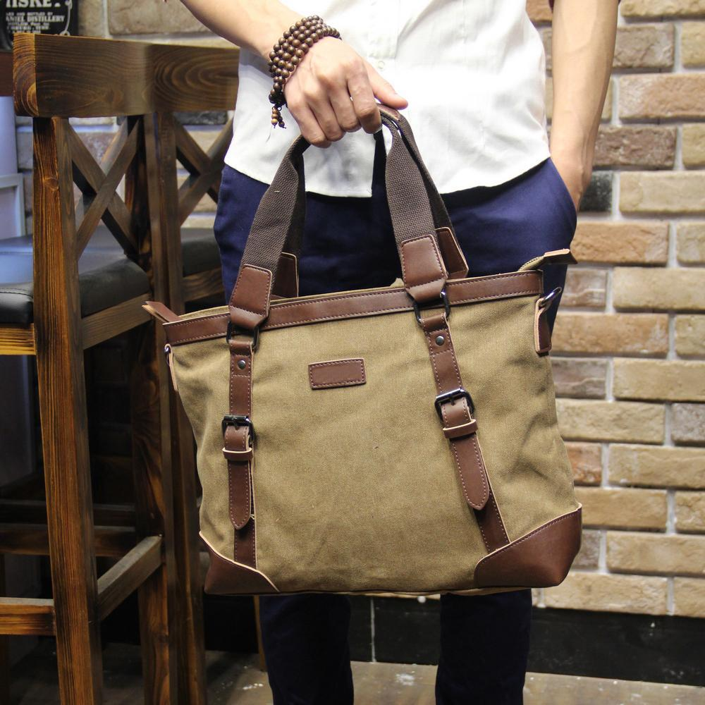 Tidog The new business man bag casual canvas briefcase - intl