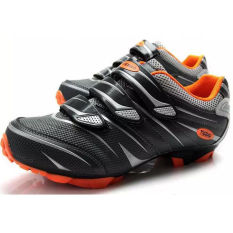 Recent Tiebao Mtb Cycling Shoes For Shimano Spd System Bike Bicycle Shoes Black Orange