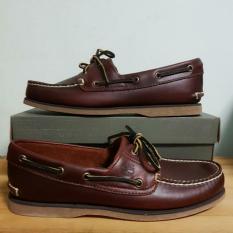 c2ee05c868b53 Timberland Classic 2 Eye Lug Root Beer Brown Boat Shoes
