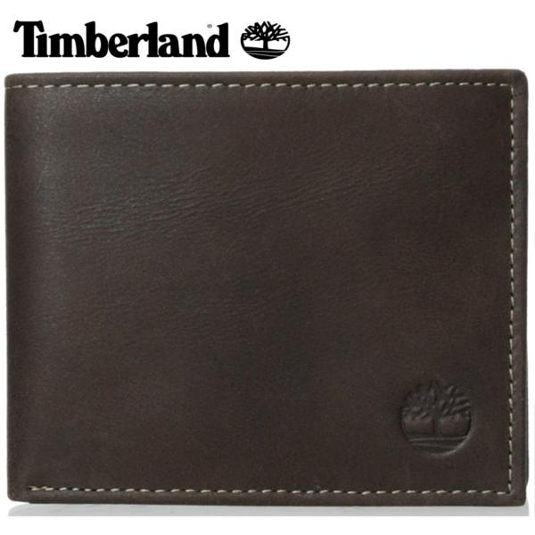 Timberland Mens Cloudy Passcase Wallet(Brown) - intl