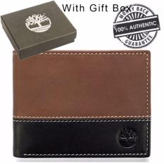 Great Deal Timberland Men S Hunter Colorblock Leather Wallet With Open Id Windows Brown Black