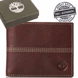 Timberland Men S Sportz Quad Leather Wallet Brown Free Shipping