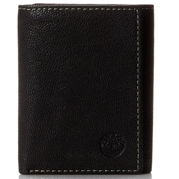 Timberland Mens Cavalieri Trifold Wallet, Black